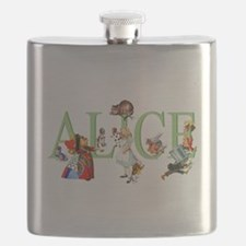 Alice and Her Friends in Wonderland Flask