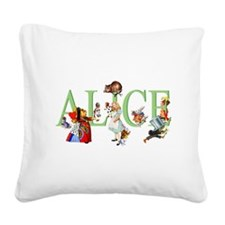 Alice and Her Friends in Wond Square Canvas Pillow