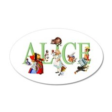 Alice and Her Friends in Won Wall Decal