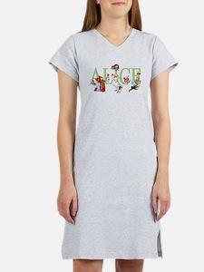 Alice and Her Friends in Wonder Women's Nightshirt