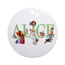 Alice and Her Friends in Wonderla Ornament (Round)