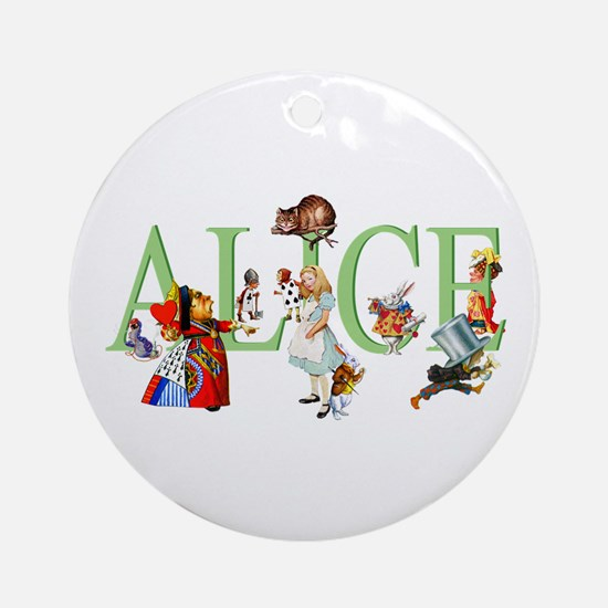 Alice and Her Friends in Wonderla Ornament (Round)