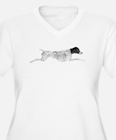 Black & White Leaping GSP T-Shirt