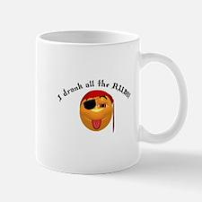 Drank All the Rum Pirate Smiley Mug