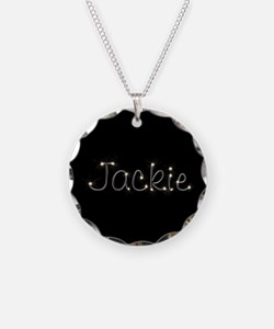 Jackie Spark Necklace Circle Charm