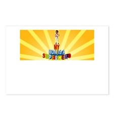 my mom is a superhero Postcards (Package of 8)