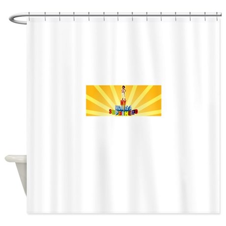 My mom is a superhero shower curtain by trextshirts