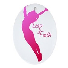 Leap of Faith Ornament (Oval)