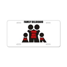 family billboard, your ads here Aluminum License P