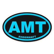 Andermatt Oval Bumper Stickers