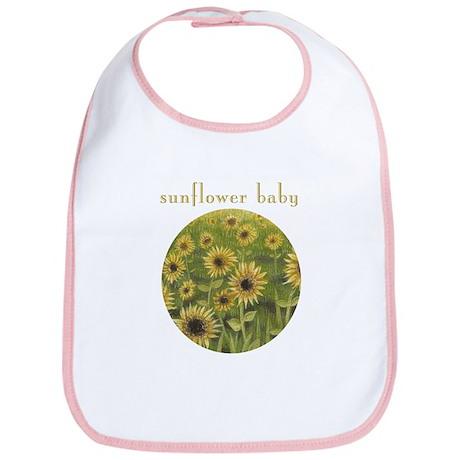 Sunflower Baby bib