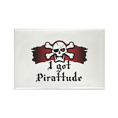 I Got Pirattude (Pirate Attitude) Rectangle Magnet