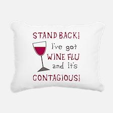 Wine Flu Rectangular Canvas Pillow