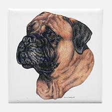 Bullmastiff Dog Portrait Tile Coaster