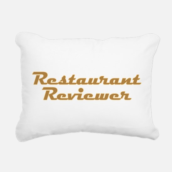 Restaurant Reviewer Rectangular Canvas Pillow