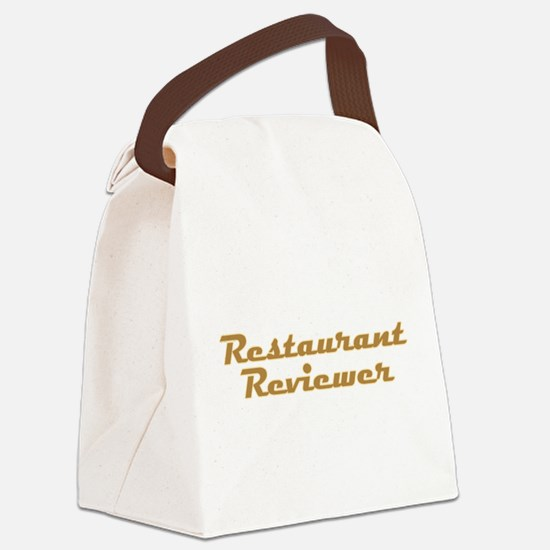 Restaurant Reviewer Canvas Lunch Bag
