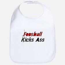 Foosball Kicks Ass Bib