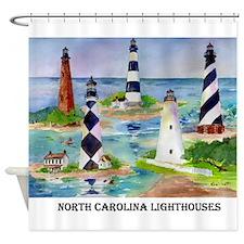 NC Light houses Shower Curtain
