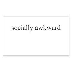 socially awkward Rectangle Decal