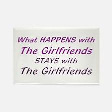 Girlfriends Rectangle Magnet