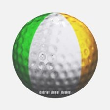 Ireland Golf Ornament (Round)