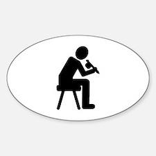 Tattoo artist Sticker (Oval)