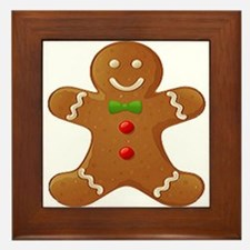 Framed Gingerbread Man Tile