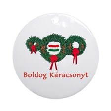 Hungary Christmas 2 Ornament (Round)
