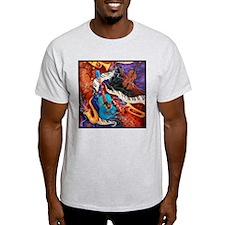 Jazz Music Guitar Piano Scene T-Shirt