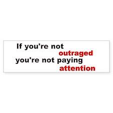 Outraged bumper sticker