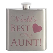 World's Best Aunt (Heart) Flask