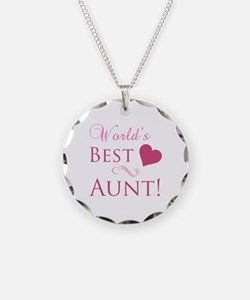 World's Best Aunt (Heart) Necklace