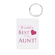 World's Best Aunt (Heart) Keychains