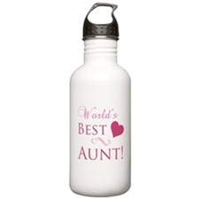 World's Best Aunt (Heart) Water Bottle