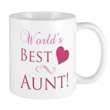 World's Best Aunt (Heart) Mug