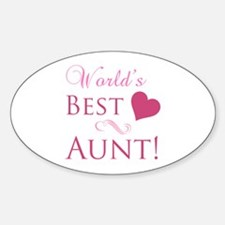 World's Best Aunt (Heart) Decal