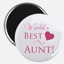 World's Best Aunt (Heart) Magnet