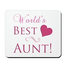 World's Best Aunt (Heart) Mousepad