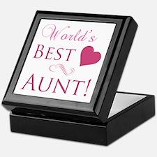 World's Best Aunt (Heart) Keepsake Box
