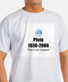 Pluto Rest in Peace Ash Grey T-Shirt