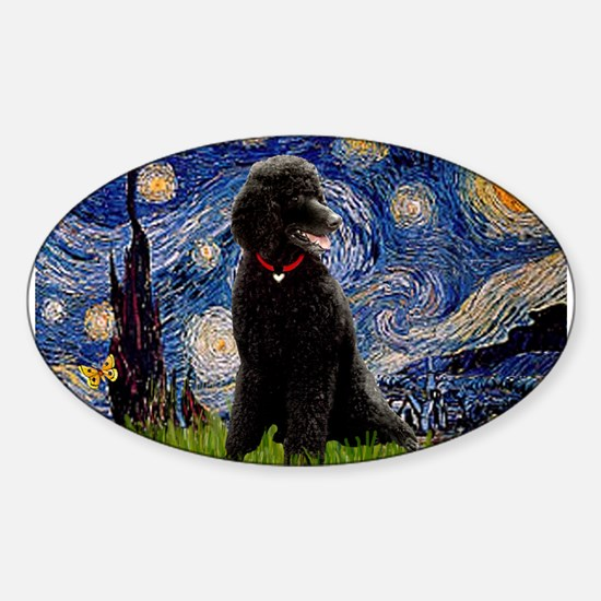 Starry / Std Poodle(bl) Decal