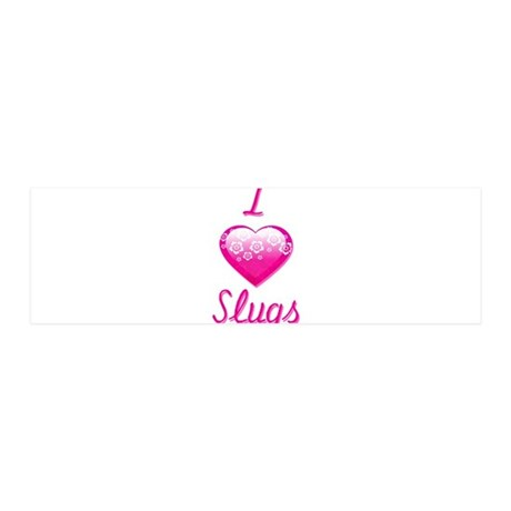 I Love/Heart Slugs 20x6 Wall Decal