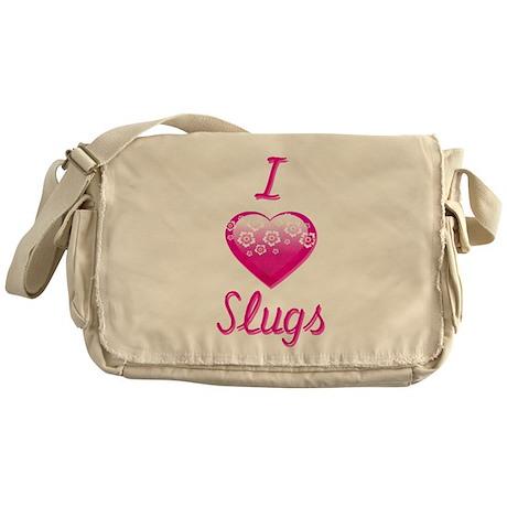 I Love/Heart Slugs Messenger Bag
