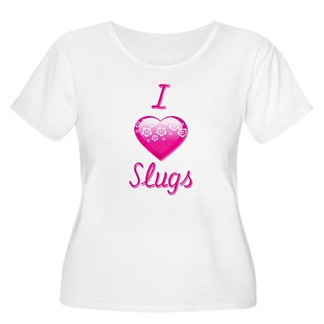 I Love/Heart Slugs Women's Plus Size Scoop Neck T-