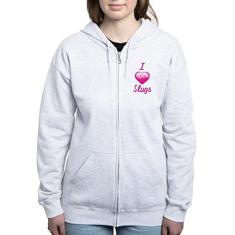 I Love/Heart Slugs Women's Zip Hoodie