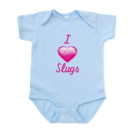 I Love/Heart Slugs Infant Bodysuit