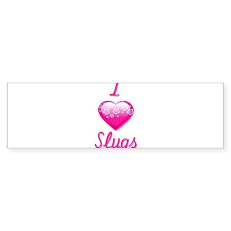 I Love/Heart Slugs Sticker (Bumper)