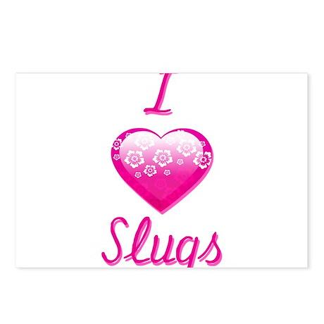 I Love/Heart Slugs Postcards (Package of 8)