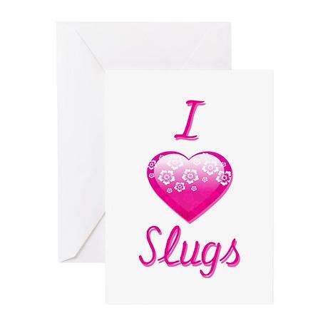 I Love/Heart Slugs Greeting Cards (Pk of 20)