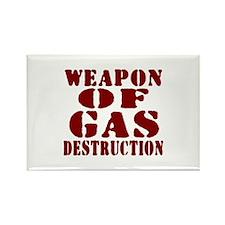 Weapon of Gas Destruction Rectangle Magnet